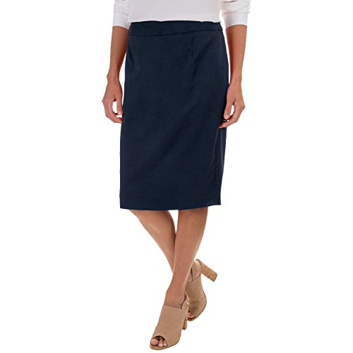 Pendleton Ultra 9 Pencil Skirt - Stretch Worsted Wool (10, (Navy Wool Skirt)