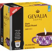 Gevalia Dark Royal Roast Coffee K-Cups, 18 count(Case of 2)