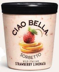 Ciao Bella, Wild Italian Strawberry Limonata Sorbetto, 14.0 Oz.