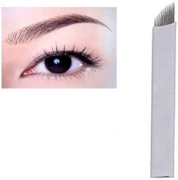 Amazon.com: Salmony® 30 Pieces 16pin Eyebrow Permanent Makeup Needle 3D Manual Tattoo Microblading Sloped Blades: Health & Personal Care