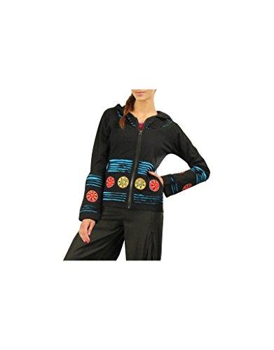 Aler Simplement - Manga larga con capucha de algodón de la mujer sólo tienes que ir SW528 Multicolor