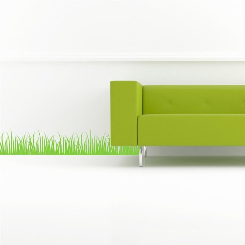 Grass Set of 2 (M) Wall Saying Vinyl Lettering Home Decor Decal Stickers ()