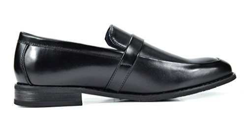 Dress Mens Shoes Black Marc 2 Bruno Leather Loafers Lined Charter XFn6R