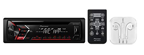Pioneer DEH-S1000UB Single DIN In-Dash CD, CD-R/RW, MP3, Front USB and Auxiliary Input, AM/FM Detachable Face Plate Car Stereo Receiver w/ MIXTRAX and ARC Support / FREE ALPHASONIK - Stereo Car Face