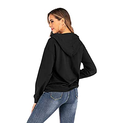 LACOZY Women's Good Vibes Hoodies Long Sleeve Shirt Casual Graphic Tee Shirt Fall Clothes for Women Tops Blouse at Women's Clothing store