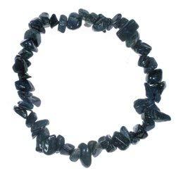 CrystalAge Dumortierite Gemstone Chip Bracelet
