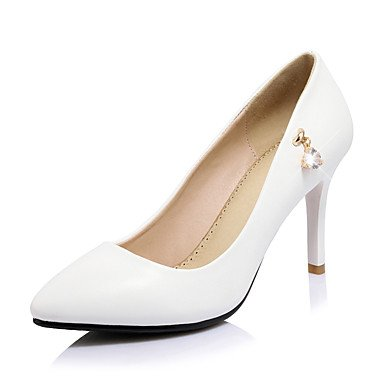 Talones de las mujeres Primavera Verano Otoño Club de los zapatos de cuero de boda oficina y carrera al aire libre Fiesta y Noche Vestido tacón de aguja informal Red