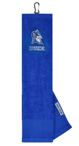 Duke Blue Devils Face/Club Embroidered (Blue Embroidered Velour Golf Towel)