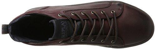 Replay Herren Grem Hohe Sneaker Rot (Burgundy)