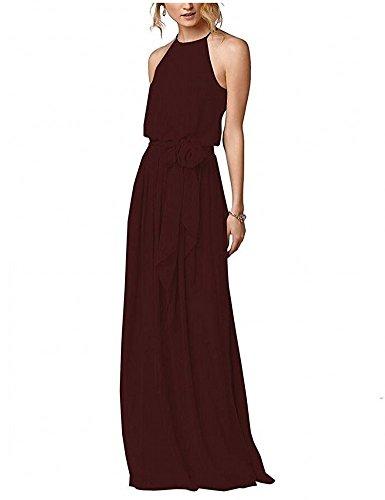 off shoulder chiffon bridesmaid dress - 8
