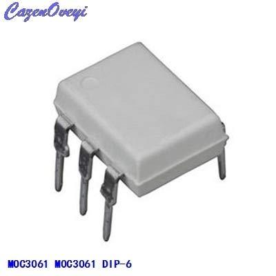 Cailiaoxindong 10pcs/lot MOC3061 M0C3061 DIP-6 Optoisolator - Triac New Original in Stock