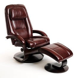 Mac Motion Chairs Merlot Top Grain Leather Swivel, Recliner with -