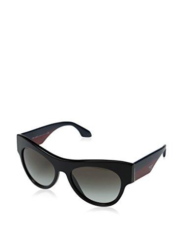 Prada Women's 0PR 28QS Black/Blue Red/Gradient Grey - Red And Black Sunglasses Prada