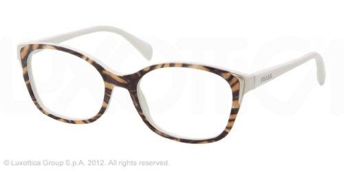 PRADA PR 13OV Eyeglasses GAB1O1 Yellow Dirty White Demo Lens - Models Male Prada
