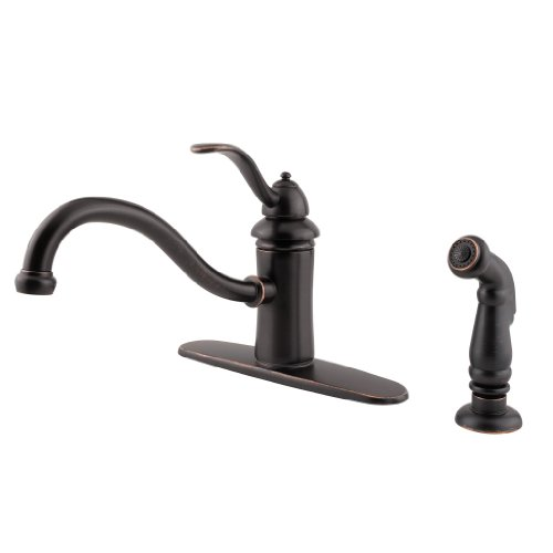 Marielle One Handle - Pfister GT34-4TYY Marielle One-Handle Kitchen Faucet with Side Spray, Tuscan Bronze