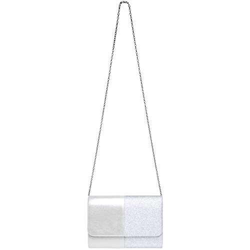 de femme XL enveloppe Pochette soirée soirée pour sac TA416 de CASPAR pochette Argenté nqXTOxvUWc