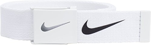 Nike Mens Tech Essential Belt, White, One Size