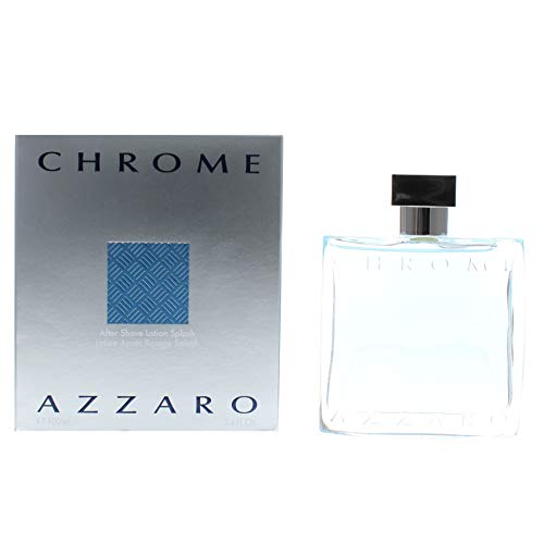 Azzaro Chrome After Shave Lotion Splash, 3.4 Fl Oz