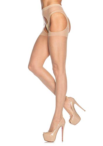 Women's Sheer Garter Belt Pantyhose Sexy Underwear Mesh Sling Temptation Couple Erotic