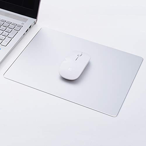 JiaQi Office Metal Aluminum Mouse Pad,Ultra Thin Double Side Mouse Mat,Waterproof Mousepad Not-Slip Base Resistant to Dirt Easy to Clear-k 30x24cm(12x9inch)