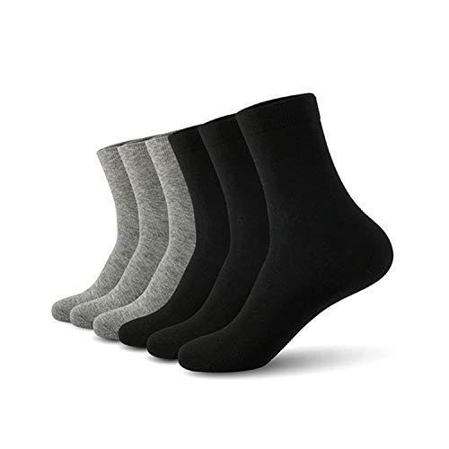 solid color cotton Plus size (EU 39-46) (US 7.0-12.0) 6pairs/lot Clustor,Ba'ja '-1,XL