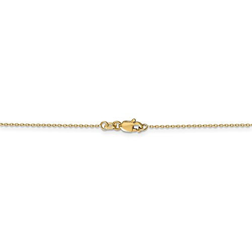 0.8 mm 14k Yellow Gold Diamond-Cut Cable Chain Necklace - 18 ()