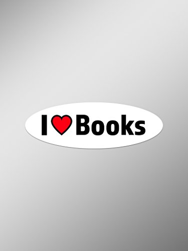 (I Love Books Vinyl Decals Stickers ( Two Pack ) | Cars Trucks Vans Windows Walls Laptop Cups | Printed | 2 - 5.5 Inch Decals | KCD1350 )
