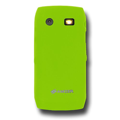 Amzer Silicone Skin Jelly Case for BlackBerry Pearl 9100/9105 - Green
