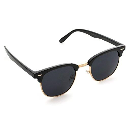 Rimless Clubmaster Glasses : Polarized Clubmaster Classic Half Frame Semi-Rimless ...