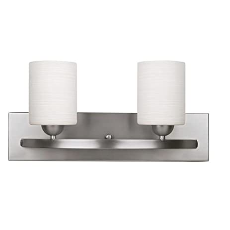 Canarm Hampton IVL370A02BPT 2 Light Bath Vanity Light Finish: Brushed Pewter