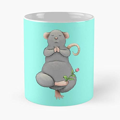 Digital Drawing Illustration Cartoon Rat Funny Christmas Day Mug Gifts Ideas For Mom - Great Ceramic Coffee Tea Cup]()
