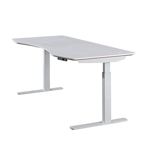 ApexDesk Elite Series 60'' W Electric Height Adjustable Standing Desk (Memory Controller, 60'' White Top, Off-White Frame) by ApexDesk (Image #5)