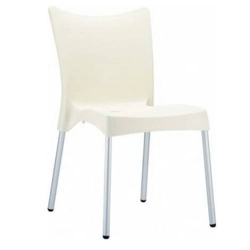 Juliette Resin Dining Chair - Set of 2 (Beige)