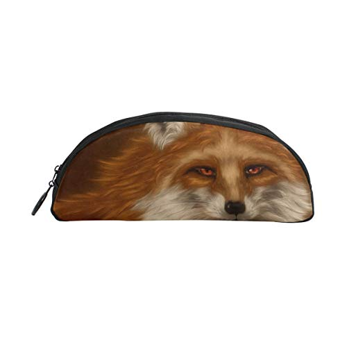 HengZhe Pencil Case Fox Paint Pen Bag Cosmetic Pouch Students Stationery Holder Office Organizer -