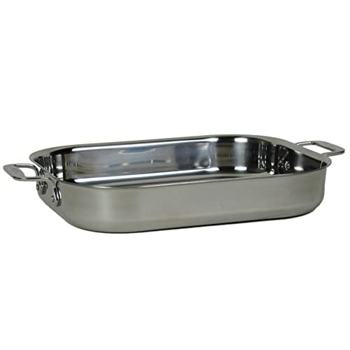 All-Clad 00830 Stainless-Steel Lasagna Pan with 2 Oven Mitts/ Cookware, Silver