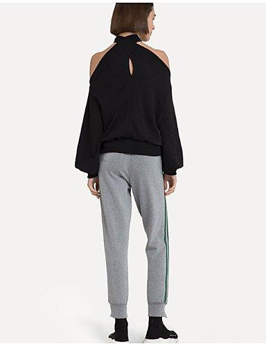 tagliata Unita Da Black T Schienale shirt Senza Donna Tinta Yfltz Basic xHFwqg