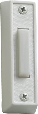 Plastic Door Chime Button in White