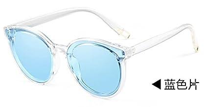 Komny Gafas de sol polarizadas marea hembra estrella roja neta gafas de sol Blue film