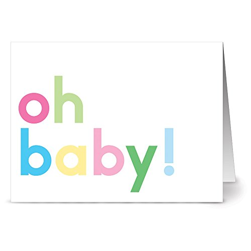 Oh Baby - 36 Note Cards - Blank Cards - Ivory Envelopes ()