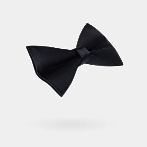 WATERMELON Corbata de Nudo Plano Mercerizado Ajustable Negro ...
