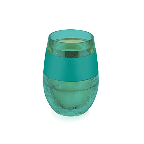 Host 7422 Wine FREEZE Cooling Cup, Translucent Green, 1 Cup ()