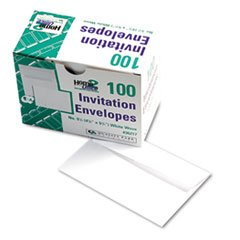 * Greeting Card/Invitation Envelope, Contemporary, #5 1/2, White, 100/Bo
