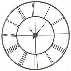 CC Home Furnishings Gigantic 50 Open Design Classical Roman Numeral Wall Clock