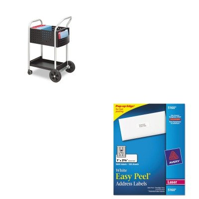KITAVE5160SAF5238BL - Value Kit - Safco Scoot Mail Cart (SAF5238BL) and Avery Easy Peel Laser Address Labels (Safco Labels)
