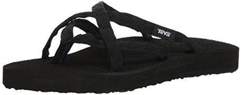 Teva Women's Olowahu Flip-Flop - 10 B(M) US - Mix Black on Black (Red Croc Pattern)
