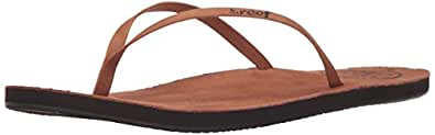 Reef Women's Leather Uptown Sandal, Cocoa, 10 M US