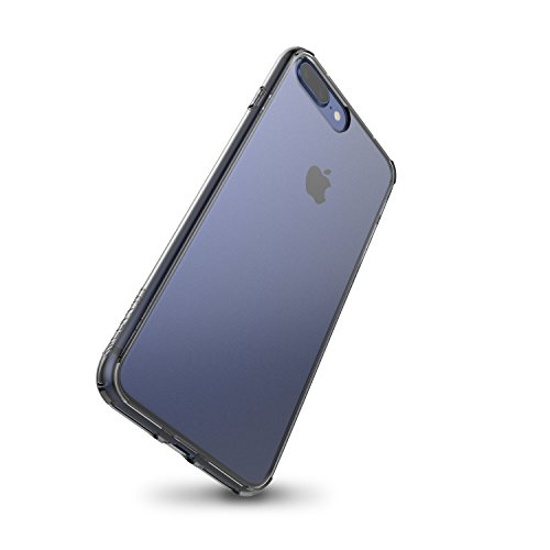 LUVVITT transparente Vista iPhone 7Plus/iPhone 8plus Case con híbrida resistente a los arañazos Back y absorción de golpes Bumper para Apple Iphone 7Plus (2016) y iPhone 8plus (2017) transparente