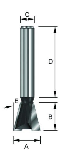 14,3 mm HM B 13,5 mm ENT 15968 Gratfr/äser HW ohne Vorschneider D 32 mm 8 mm E 15/° Schaft C Durchmesser A