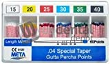 META - Gutta Percha Points Color Coded .04 Taper Spill Proof 107621 Us Depot