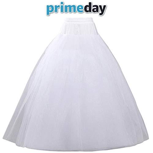(VeMee Underskirt Petticoat for Dresses Bridal Petticoat Women Crinoline Underskirt Slips for Wedding Ball Gown Dress (White New))